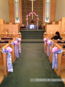 Altar and aisle decor