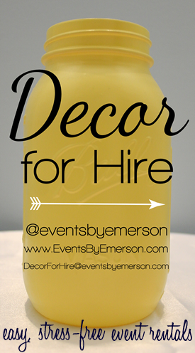 Decor for Hire from Events by Emerson